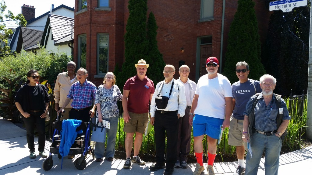 A group of St. James Town seniors on a Cabbagetown People tour on August 12, 2015.