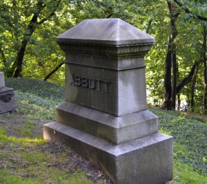 Abbott monument in Necropolis