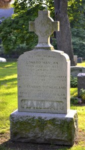 Hanlan monument at Necropolis