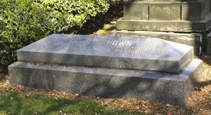 George Brown's grave