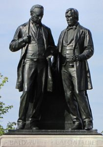 Baldwin and Lafontaine monument in Ottawa.